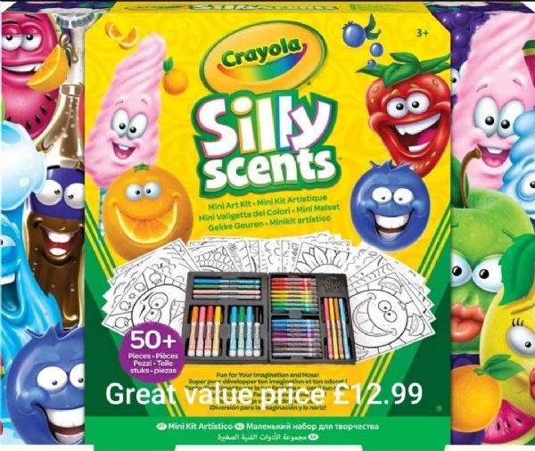 Crayola Silly Scents Mini Art Kit Refresh - Now with stinky scents!